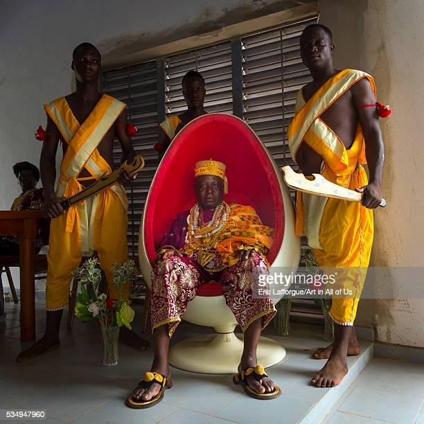 Benin West Africa Savalou gbaguidi ahotondji sèvègni king of savalou sit in an egg chair