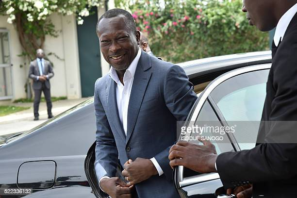 Benin's newly president Patrice Talon arrives for a reconciliation meeting with the former Beninese president at the presidential residence in...