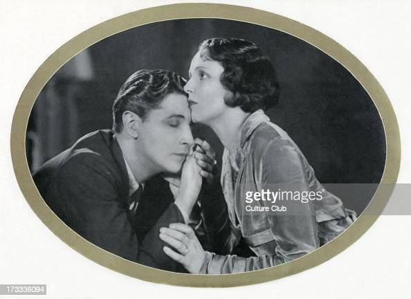 Benita Hume and Ivor Novello in Novello's 1929 play Symphony in Two Flats Caption reads 'David have you stayed because you are sorry for me Lesley I...