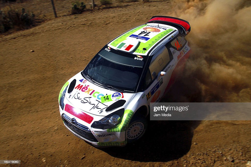 Benito Guerra and Borja Rozada of Mexico during the WRC Rally Championship Mexico on March 09, 2013 in Leon , Mexico.