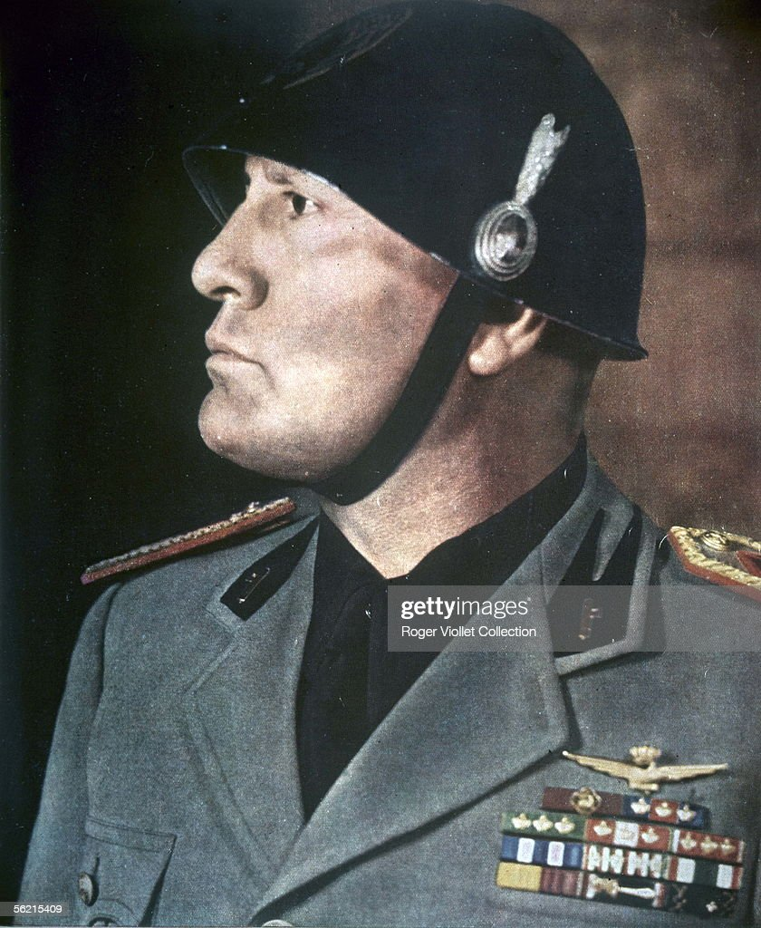 Benito Mussolini (1883-1945), Italian politician, on 1940.