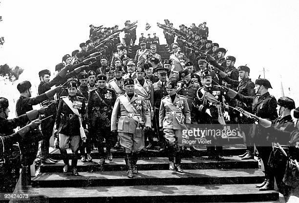 Benito Mussolini Italian statesman in Genoa