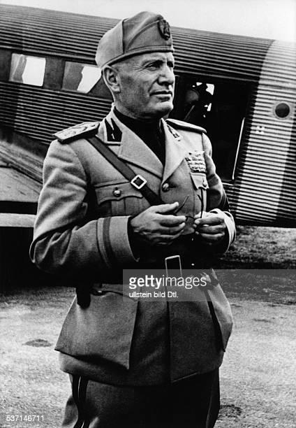 Benito Mussolini Politiker Italien 19251943/45 Diktator Italiens als Staatschef der 'Sozialen Republik Italien ' der sog 'Republik von Salo' benannt...
