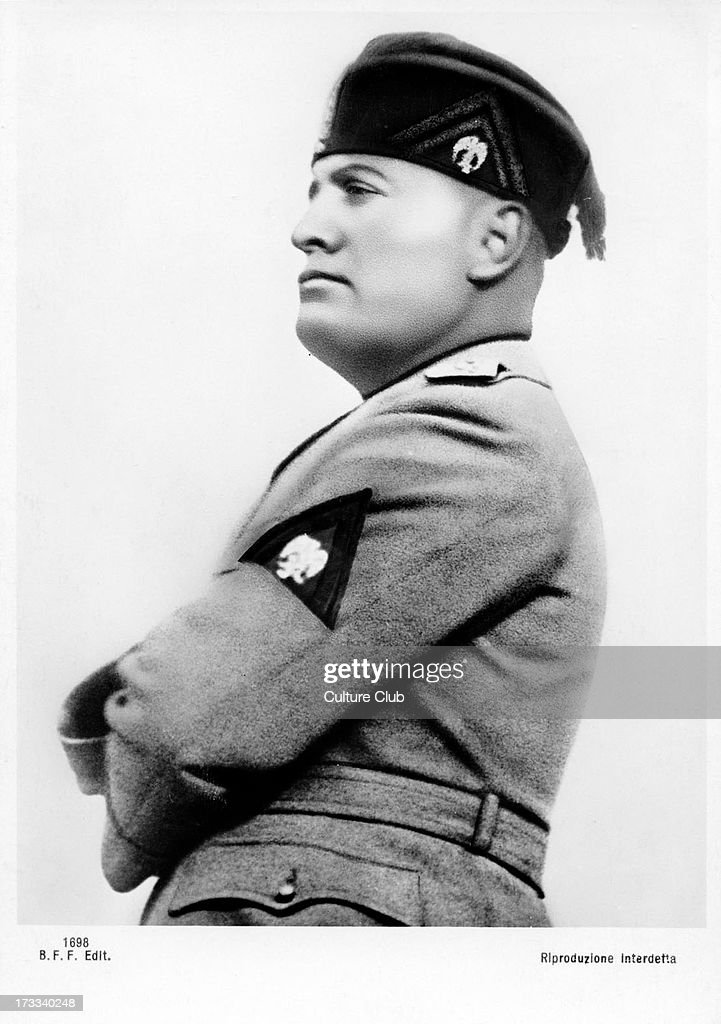 italian prime minister benito mussolini Italian prime minister benito mussolini declares war on uk and france during worlhd stock footage.