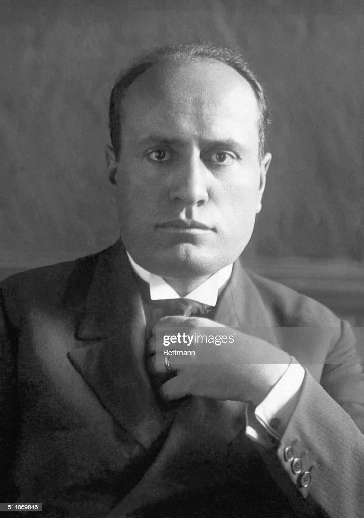 Benito Mussolini (1883-1945), Prime Minister. Undated photograph.