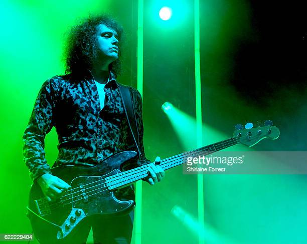 Benj Blakeway of Catfish and the Bottlemen performs at Victoria Warehouse on November 10 2016 in Manchester England