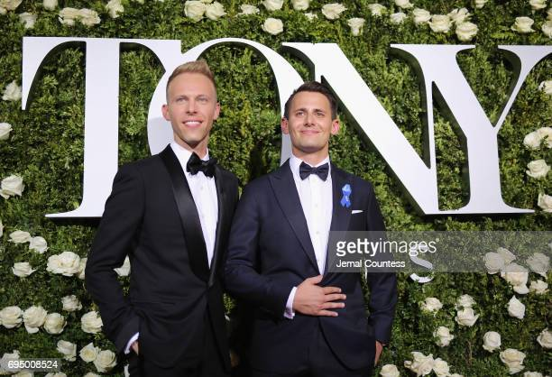 Benj Pasek and Justin Paul attend the 2017 Tony Awards at Radio City Music Hall on June 11 2017 in New York City