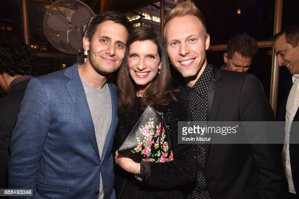 Benj Pasek music and lyrics Stacey Mindich Lead Producer and Justin Paul music and lyrics attend Atlantic Records celebration of Alex Lacamoire Benj...