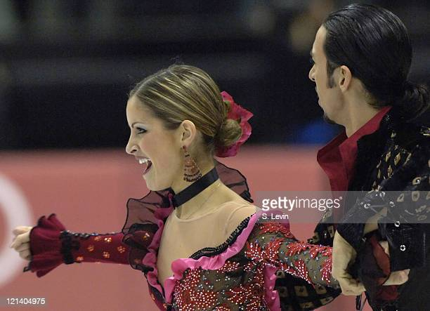 Benjamin Agosto and Tanith Belbin of the United States during the Ice Dancing Free Skate Program at the 2006 Olympic Games at the Palavela in Torino...