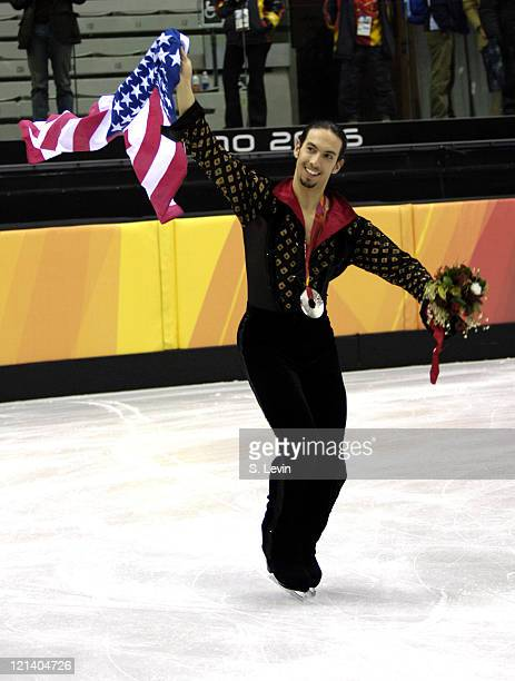 Benjamin Agosto of the United States during the Ice Dancing Free Skate Program at the 2006 Olympic Games at the Palavela in Torino Italy on February...