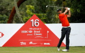 Benjamin Alvarado of Chile hits a tee shot during the final round of the Brasil Classic Presented by HSBC at the Sao Paulo Golf Club on April 7 2013...