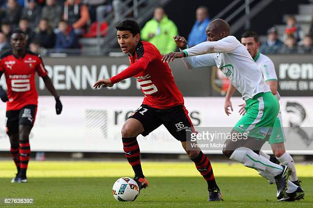 Benjamin Andre of Rennes during the Ligue 1 match between Stade Rennais and AS SaintEtienne at Roazhon Park on December 4 2016 in Rennes France