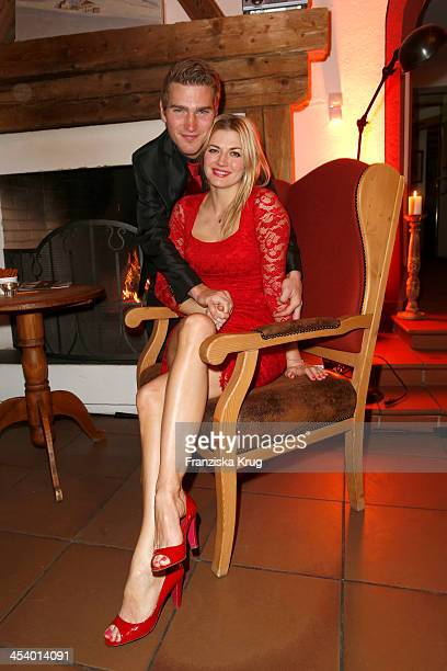 Benjamin Baarz and Nina Bott attend the Gala Dinner At Kuehtai Castle Tirol Cross Mountain 2013 on December 06 2013 in Innsbruck Austria