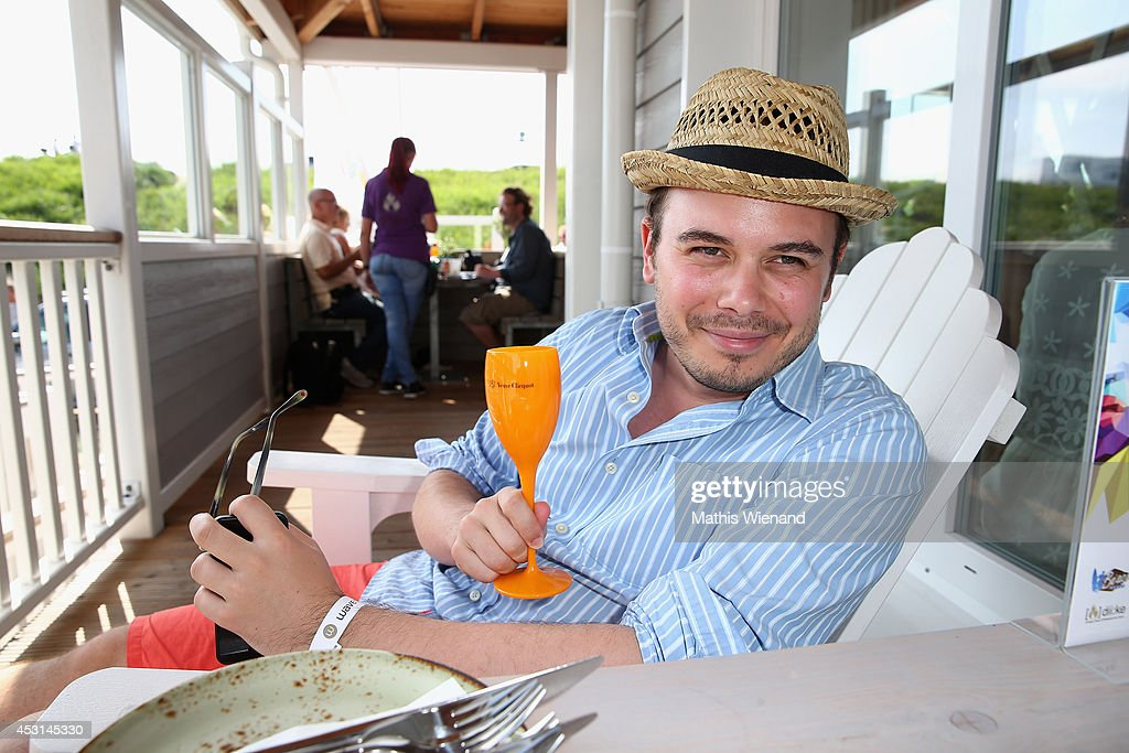 Benjamin Bartz attends the Land Rover Public Chill 2014 at Beach Motel on August 3, 2014 in St Peter-Ording, Germany.