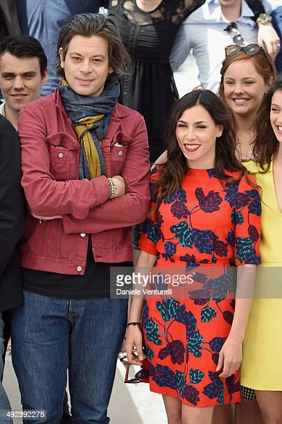 Benjamin Biolay and Olivia Ruiz attend the 'ADAMI' Photocall at the 67th Annual Cannes Film Festival on May 20 2014 in Cannes France