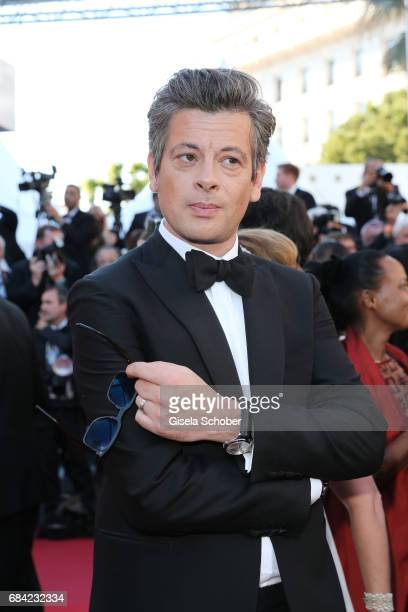 Benjamin Biolay attends the 'Ismael's Ghosts ' screening and Opening Gala during the 70th annual Cannes Film Festival at Palais des Festivals on May...