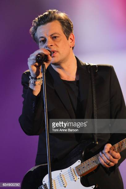 Benjamin Biolay performs during the '32nd Victoires de la Musique 2017' at Le Zenith on February 10 2017 in Paris France