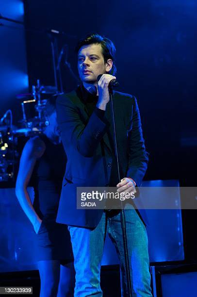 Benjamin Biolay performs live during Prix Constantin 2011 at L'Olympia on October 17 2011 in Paris France