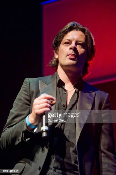 Benjamin Biolay performs live during the Jacno Tribute as part of Days Off Festival at Cite de la Musique on June 30 2011 in Paris France