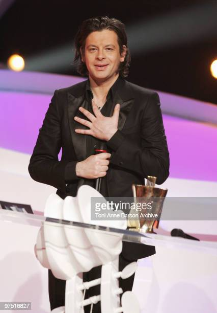 Benjamin Biolay receive Award during the 25th Victoires de la Musique at Zenith de Paris on March 6 2010 in Paris France