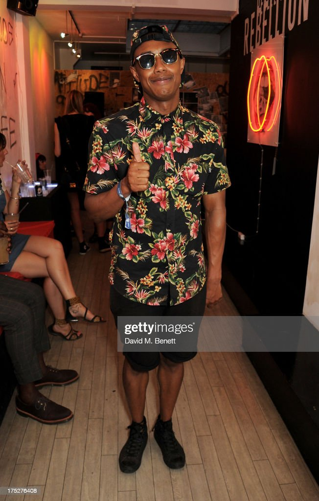 Benjamin Boateng attends Converse At The Circle, celebrating the Chuck Taylor All Star 'Rock Craftsmanship' collection, on August 1, 2013 in London, United Kingdom.