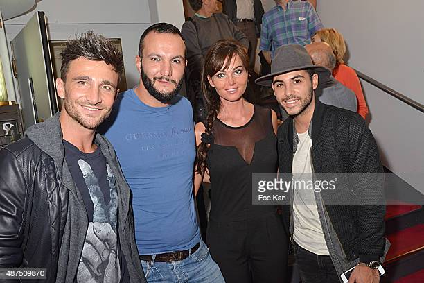 Benjamin Bocconi Julien Mior Gaelle Birgin and Alban Bartoli from The Voice attend the 'Ladies Night' Generale at the Palais des Glaces on September...