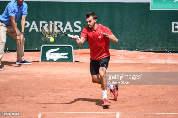 Benjamin Bonzi during first round on day 1 of the French Open at Roland Garros on May 28 2017 in Paris France