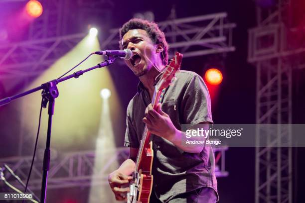 Benjamin Booker performs on the Heineken stage during day 3 of NOS Alive on July 8 2017 in Lisbon Portugal