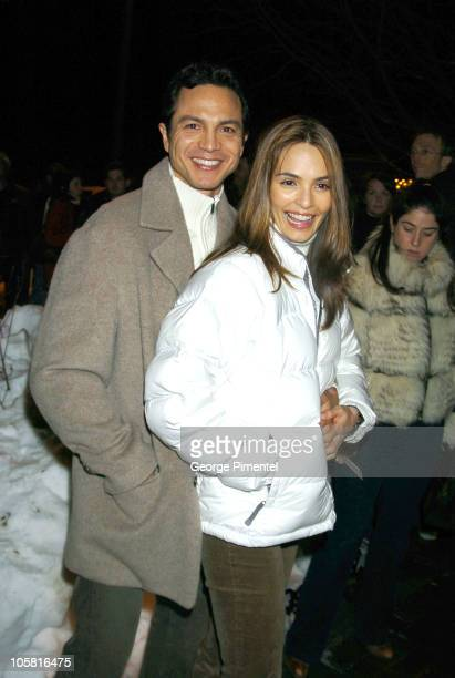Benjamin Bratt and Talisa Soto during 2004 Sundance Film Festival 'The Woodsman' Premiere at The Library in Park City Utah United States