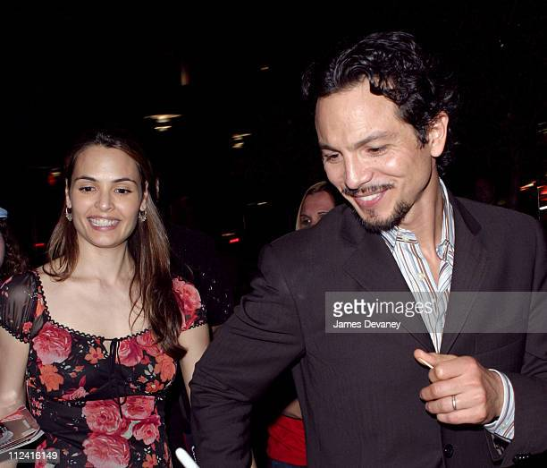 Benjamin Bratt and Talisa Soto during 'Intrigue with Faye' Opening Night After Party at West Bank Cafe in New York City New York United States