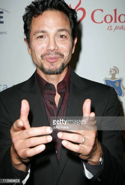 Benjamin Bratt poses at the premiere of 'Love In The Time Of Cholera' at the Colony Theater on November 1 2007 in Miami Beach Florida