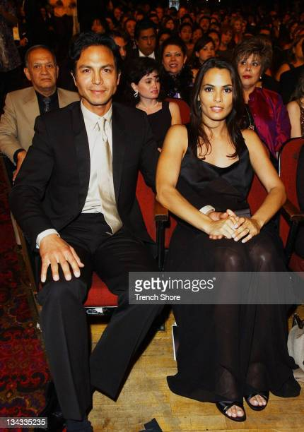 Benjamin Bratt Talisa Soto during The 2002 ALMA Awards Audience and Backstage at Shrine Auditorium in Los Angeles California United States