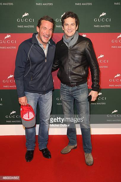 Benjamin Castaldi and Guillaume Canet attend the Gucci Paris master Day 2 on December 5 2014 in Villepinte France