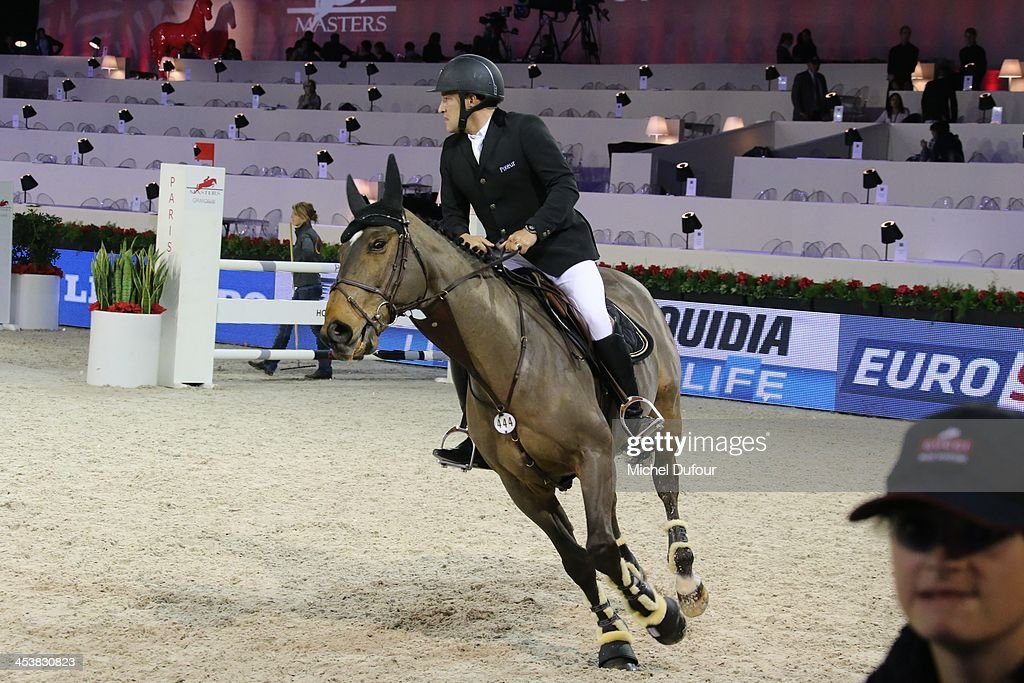 Benjamin Castaldi rides while the Gucci Paris Masters 2013 - Day 1 at Paris Nord Villepinte on December 5, 2013 in Paris, France.