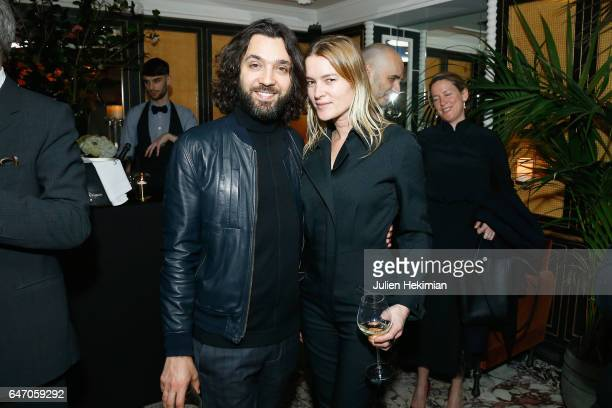 Benjamin Cercio and a guest attends the Mastermind Magazine launch dinner as part of Paris Fashion Week Womenswear Fall/Winter 2017/2018 at Loulou...