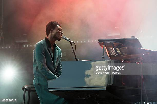Benjamin Clementine performs during day 1 of Rock En Seine Festival at Domaine National de SaintCloud on August 28 2015 in Paris France