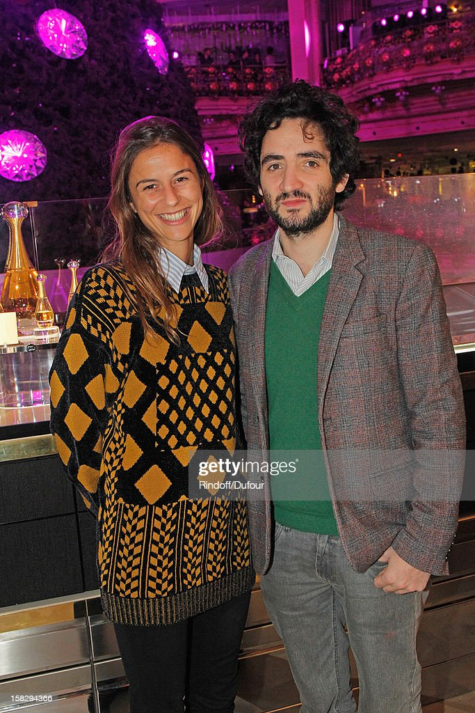 Benjamin Eymere (R) and his wife Victoire de Pourtales attend the Galeries Lafayette 100th Anniversary Bal on December 12, 2012 in Paris, France.