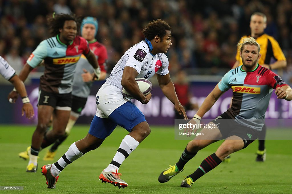 <a gi-track='captionPersonalityLinkClicked' href=/galleries/search?phrase=Benjamin+Fall&family=editorial&specificpeople=5405287 ng-click='$event.stopPropagation()'>Benjamin Fall</a> of Montpellier charges upfield during the European Rugby Challenge Cup Final match between Harlequins and Montpellier at the Grand Stade de Lyon on May 13, 2016 in Lyon, France.