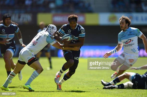 Benjamin Fall of Montpellier during the Top 14 match between Montpellier and Bayonne on April 16 2017 in Montpellier France