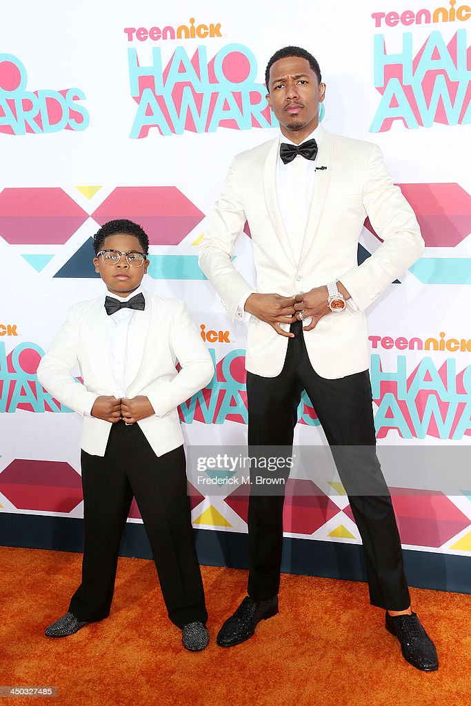 Benjamin Flores, Jr., (L) and host <a gi-track='captionPersonalityLinkClicked' href=/galleries/search?phrase=Nick+Cannon&family=editorial&specificpeople=202208 ng-click='$event.stopPropagation()'>Nick Cannon</a> attend the 2013 HALO Awards at the Hollywood Palladium on November 17, 2013 in Hollywood, California.