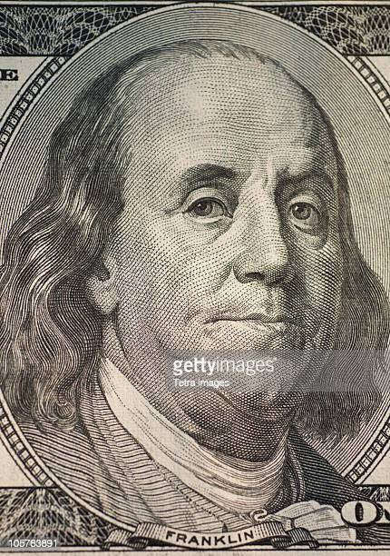 Benjamin Franklin on one hundred dollar bill