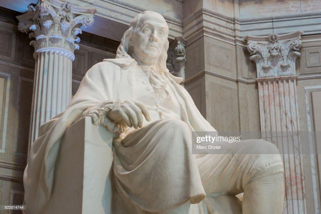 Benjamin Franklin statue : Stock Photo