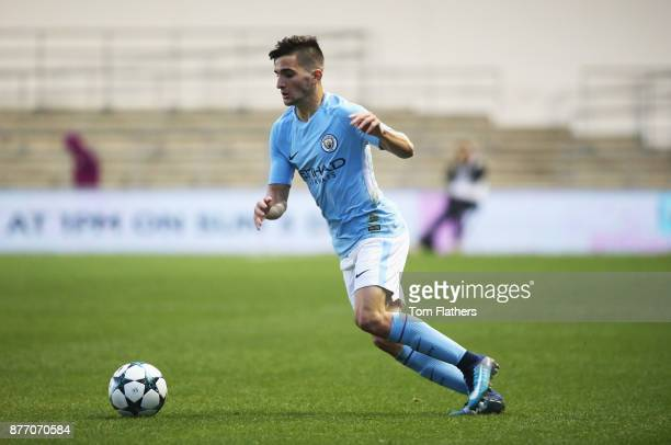 Benjamin Garre of Manchester City in action during the UEFA Youth League Group F match between Manchester City and Feyenoord at Manchester City...