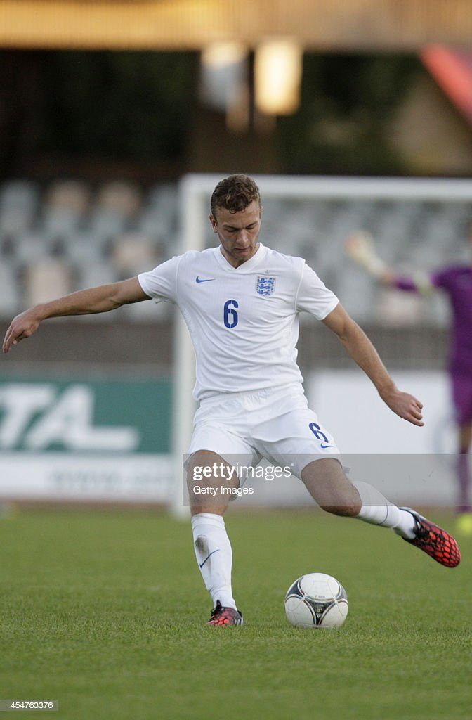 Benjamin Gibson of England in action during the Lithuania v England UEFA U21 Championship Qualifier 2015 match at Dariaus ir Gireno Stadionas on September 5, 2014 in Kaunas, Lithuania.