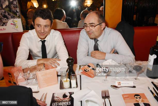 Benjamin Griveaux from LREMÊand a guest attend the 'Boeuf A la Mode' Dinner Hosted by Les Artisans Bouchers de Paris et Ile De France at Le Louchebem...