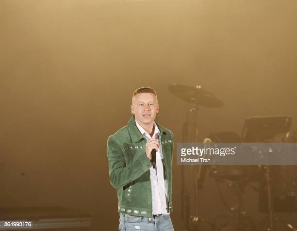Benjamin Hammond Haggerty aka Macklemore performs onstage during the CBS Radio presents 5th Annual 'We Can Survive' concert held at the Hollywood...