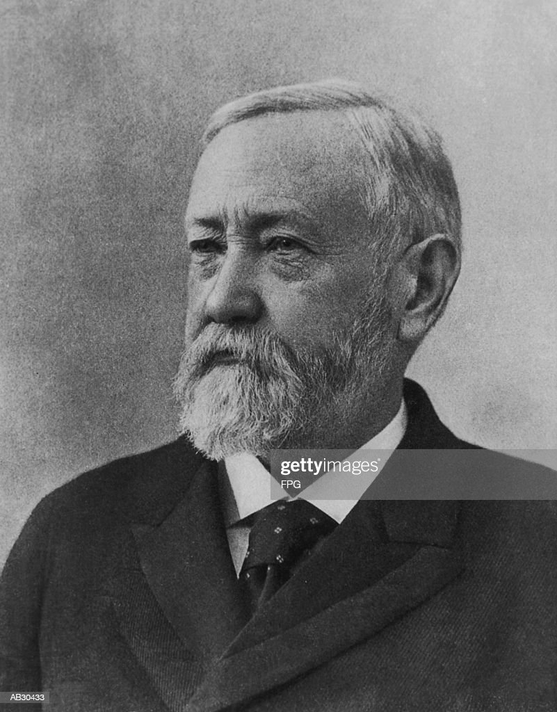 Benjamin Harrison (1833-1901), 23rd US president (B&W) : Stock Photo
