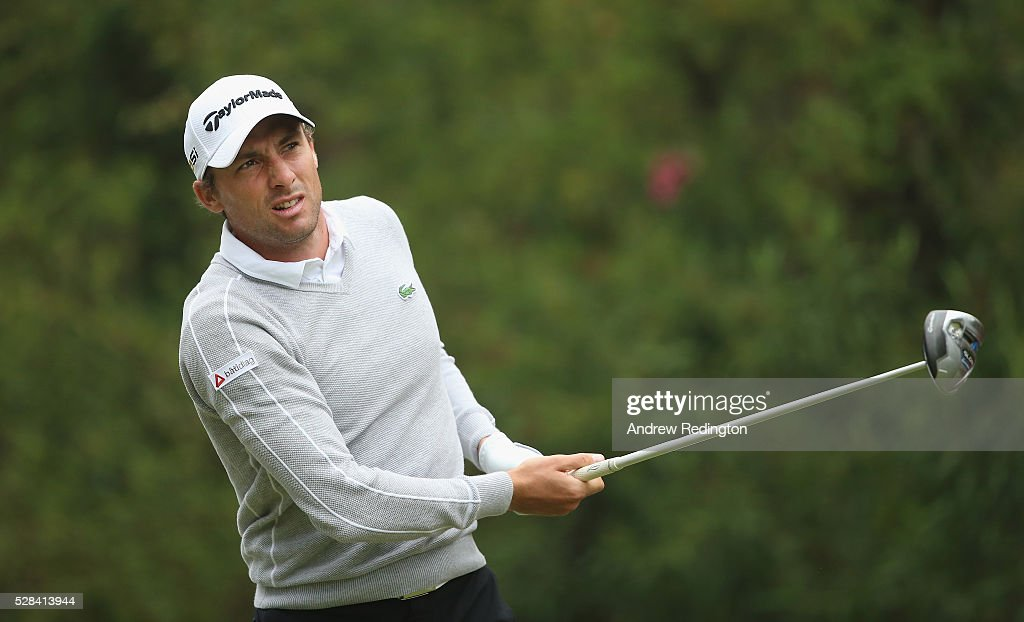 Benjamin Hebert of France in action during the first round of the Trophee Hassan II at Royal Golf Dar Es Salam on May 5, 2016 in Rabat, Morocco.