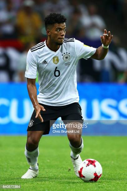Benjamin Henrichs of Germany in action during the FIFA Confederations Cup Russia 2017 SemiFinal between Germany and Mexico at Fisht Olympic Stadium...