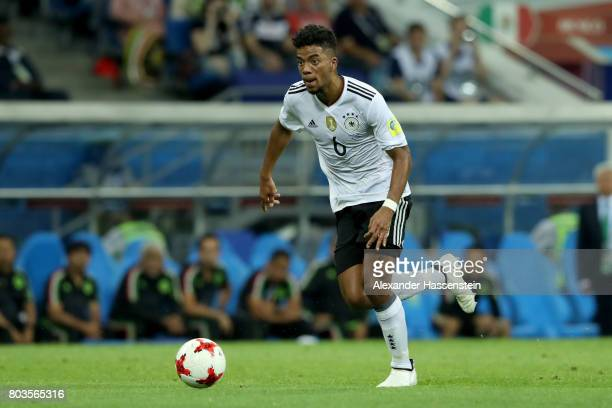 Benjamin Henrichs of Germany runs with the ball during the FIFA Confederations Cup Russia 2017 SemiFinal between Germany and Mexico at Fisht Olympic...
